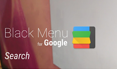 Black Menu for Google イメージ