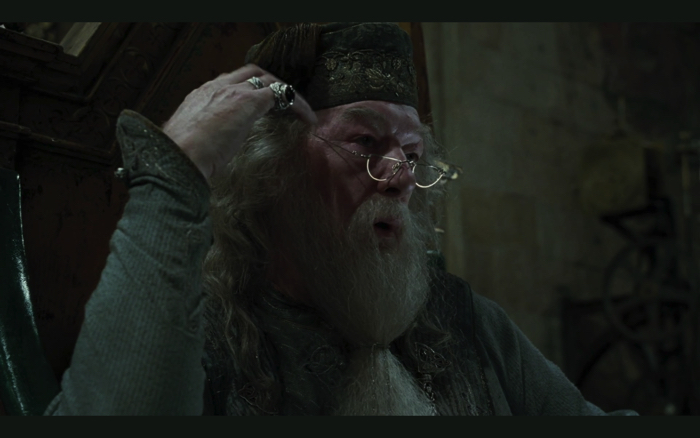 "Professor Albus Dumbledore (Michael Gambon) from the movie ""Harry Potter and the Goblet of Fire"""