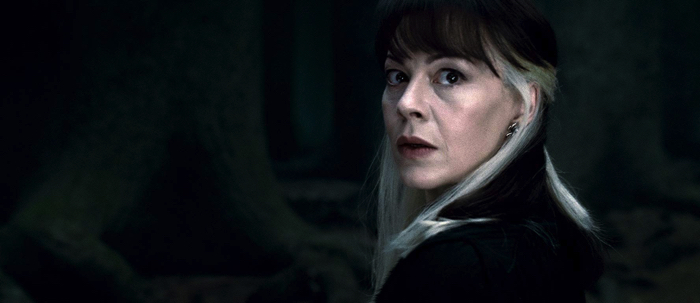 Draco Malfoy's mother Narcissa Malfoy (actor Helen McCrory)