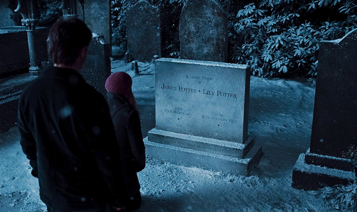 "From the movie ""Harry Potter and the Deathly Hallows - Part 1"" a grave where Harry Potter's parents sleep"