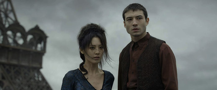 "From the movie ""Fantastic Beasts: The Crimes of Grindelwald"" Left: Nagini played by Claudia Kim, right: Credence Barebone played by Ezra Miller"