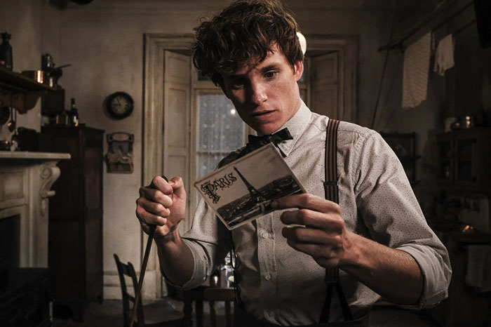 "Newt Scamander at the moment of deciding to go to Paris from the movie ""Fantastic Beasts: The Crimes of Grindelwald"""