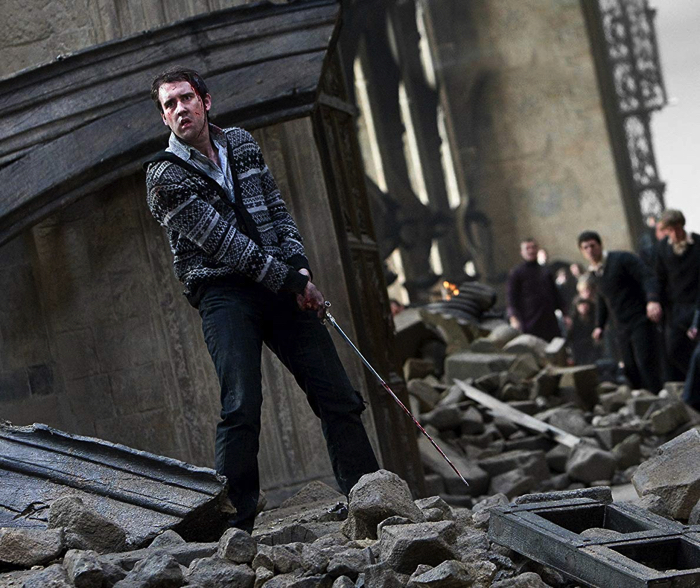 "Neville Longbottom who waved Sword of Gryffindor from the movie ""Harry Potter and the Deathly Hallows - Part 2"""