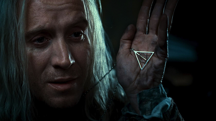 "Symbol indicating Deathly Hallows from the movie ""Harry Potter and the Deathly Hallows - Part 1"""