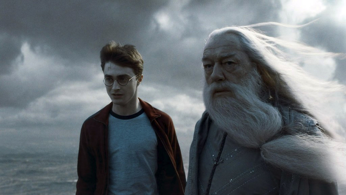 "From the movie ""Harry Potter and the Half-Blood Prince"" right: Albus Dumbledore / left: Harry Potter"