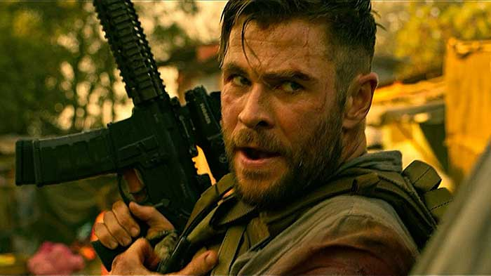 """Tyler Lake, played by Chris Hemsworth from the Netflix movie """"Tyler Lake : The Recapture of Life"""""""